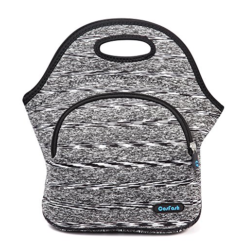 nsulated Lunch Tote Bags Boxes for Adults Men Women Kids Boys Nurses Teens by Cosfash (Grey-lunch bag with pocket) ()