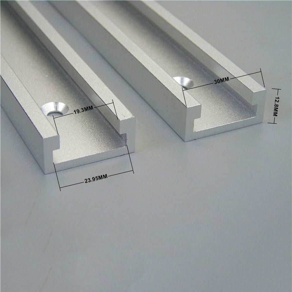 Huiming-30 Typ T-Schlitz-Gehrungsspur,Aluminium Spurrillschieber Holzbearbeitung DIY Zubeh/ör Werkzeug perfekt f/ür Holzbearbeitung