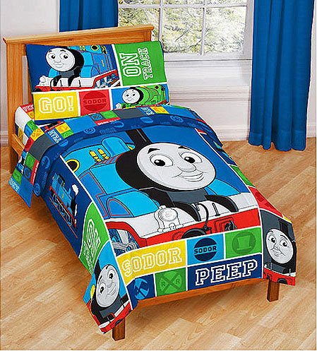 Thomas and Friends 4 Pc Toddler Bed Set, Baby & Kids Zone