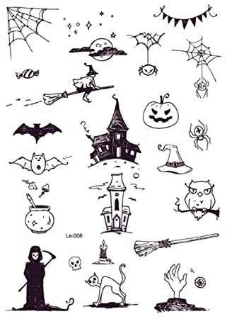 Tatuaje luminoso de Halloween Calabaza Fantasma Taty para niños ...