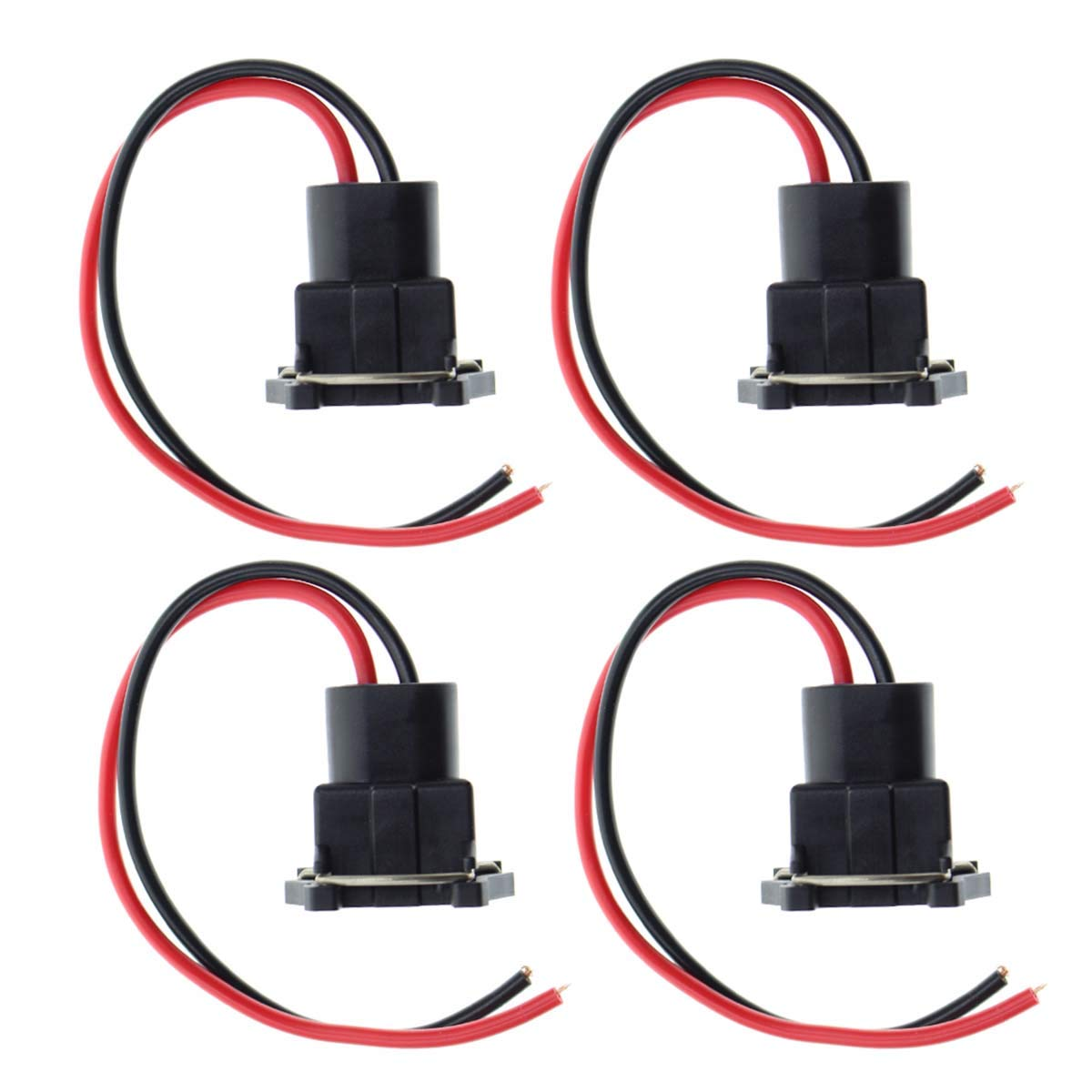 4pcs MOTOALL Fuel Injector Connector EV1 OBD1 Plug Wire Harness Pigtail Wiring Loom Clip for TPI LT1 LS1 LS6 RC TRE