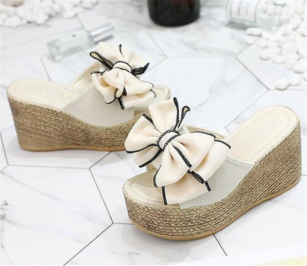 LYLIFE Womens Floral Print Elegance Fashion Pattern Peep Toe Platform Chunky High Heel Sandals Slippers