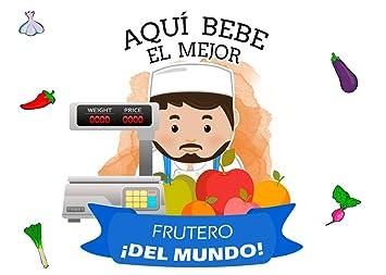 Planetacase Taza Desayuno Aquí Bebe el Mejor frutero del Mundo Regalo Original fruteros Ceramica 330 ML: Amazon.es: Hogar