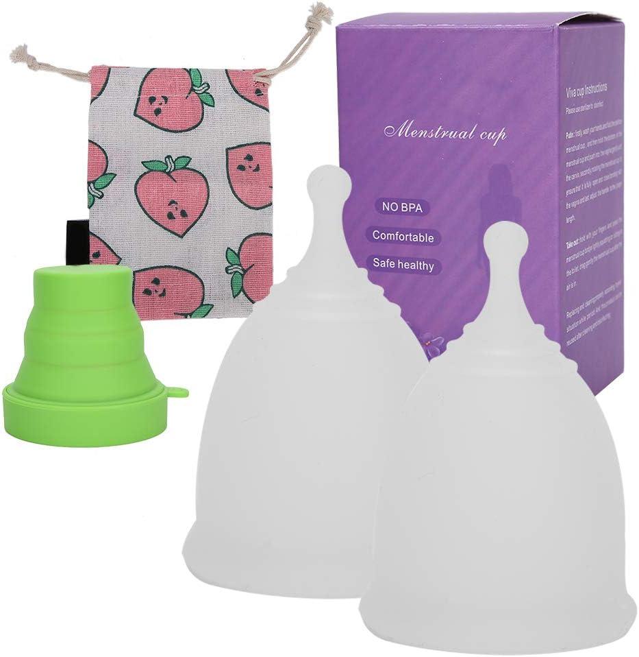 Copa menstrual de silicona, cómoda copa de período ...