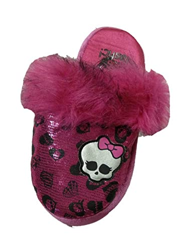 Monster High Slippers Girls Metallic Pink Skull House Shoes Fuzzy Plush Scuffs  sc 1 st  Amazon.com & Amazon.com | Monster High Slippers Girls Metallic Pink Skull House ...
