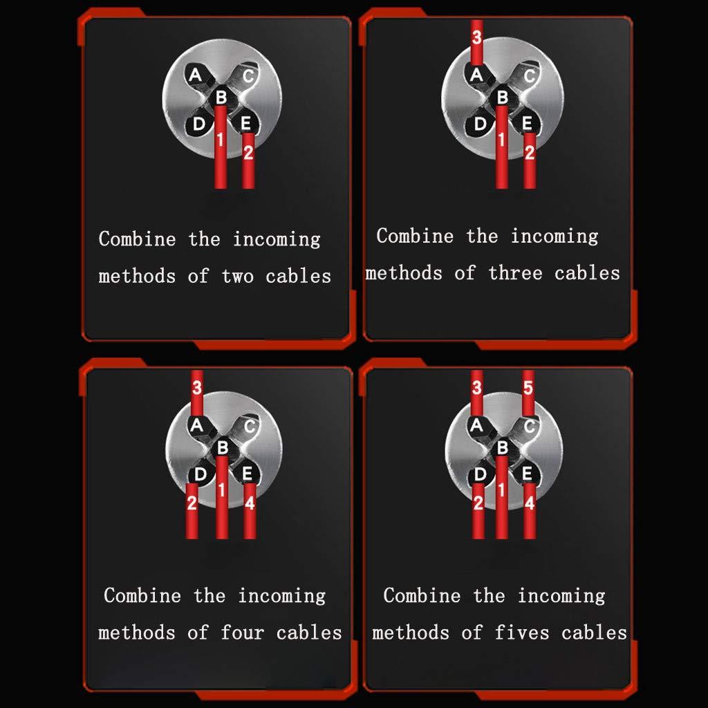 Luccase 4pcs Outils de Torsion de Fil Connecteur Rapide C/âble Electrique D/énuder Outils de terminaison de Fil pour d/énuder et tordre Le c/âble