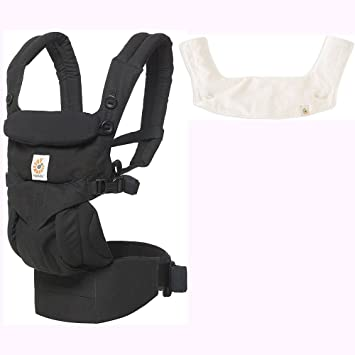 568849d6bc9 Amazon.com   Ergo Baby Omni 360 All-in-One Ergonomic Baby Carrier with Teething  Pad and Bib - Pure Black Natural   Baby