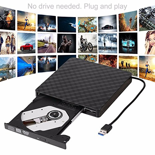 TJ8 External CD Drive-USB 3.0 Portable Slim CD DVD +/-RW Drive Writer/Rewriter/Burner,High Speed Date Transfer for WIN7/8/10/Linux/Mac OS Macbook Laptop Desktop Notebook by TJ8 (Image #4)