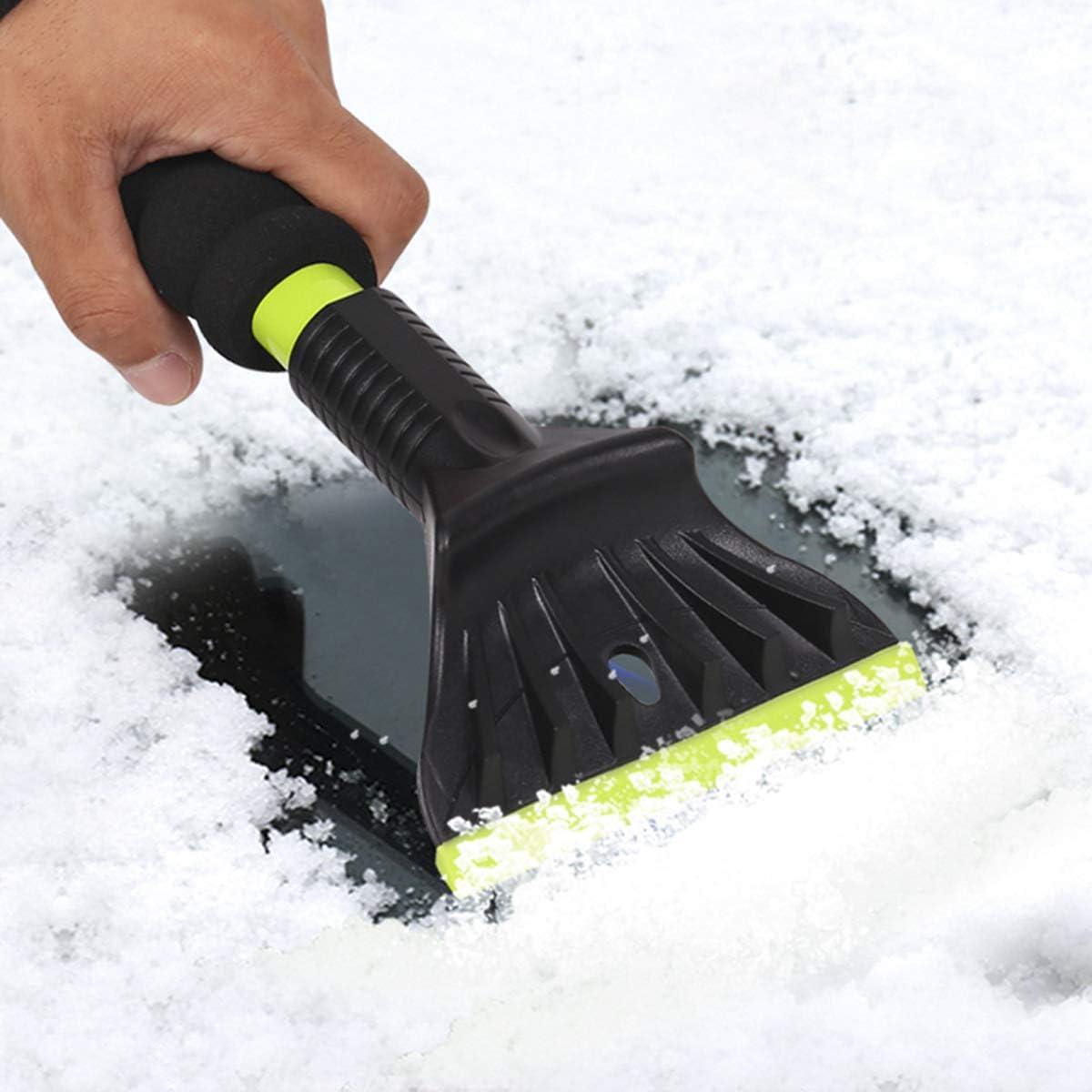 LVERSE Raschietto per ghiaccio multifunzione indistruttibile per la rimozione del ghiaccio e della neve per parabrezza e finestra