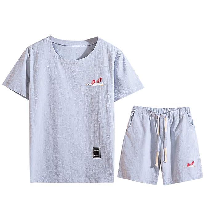Nuewofally - Conjunto de camisetas de manga corta para hombre ...