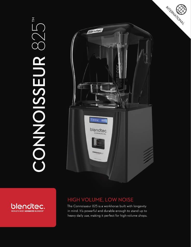 Amazon.com: Blendtec Connoisseur 825 Professional Blender with WildSide+  Jar (90 oz), Includes Blendtec Q Series Sound Enclosure, Industries  Strongest and ...