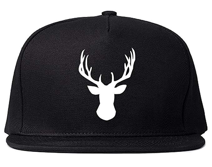 Elk Antler Deer Animal Snapback Hat Cap Black at Amazon Men s ... 91fbfa86ceb