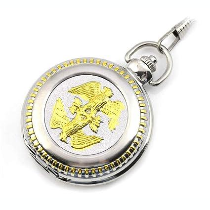 MC-BLL-HUAI BIAO-Pocket Watch Gran Doble águila Cadena de Hueso de