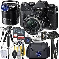Fuji XT20 Body with XC16-50mm Lens Kit - Black + 2 x 32GB Memory + Premium Photo Accessory Bundle
