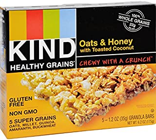 product image for Kind Bar - Granola - Healthy Grains - Oats and Honey with Toasted Coconut - 1.2 oz - 5 Count - Case of 8