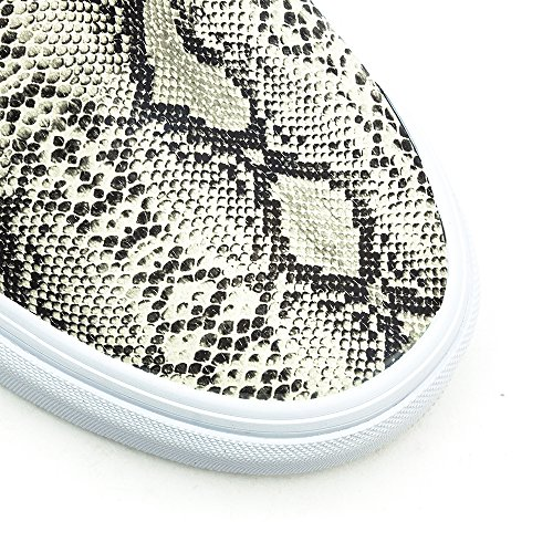 Vans Classic Slip On, Chaussures Homme - Plata (Leather/Snake)