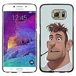 "For Samsung Galaxy S6 Case , Hombre Retrato Cgi Computer Gráficos"" - Diseño Patrón Teléfono Caso Cubierta Case Bumper Duro Protección Case Cover Funda"