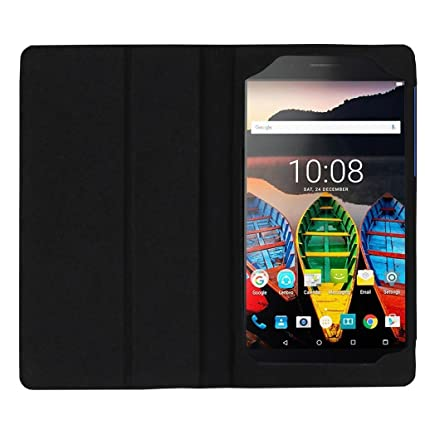 low priced ae64a 6ebbc Colorcase Tablet Flip Cover Case for Lenovo Tab 3 Plus 7703X 7 Inch -  (Black)
