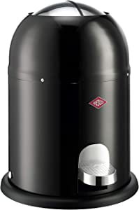 WESCO Waste Bin Mini Master 6L Powder-Coated Sheet Steel, Black, 26,4x26,4x36cm,