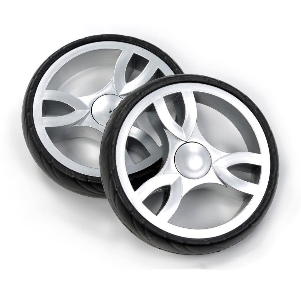 Shopping Wheel Shopping Cart Climbing Stairs wheels Mute Spare Wheel Metal Shaft (Two) wheels Through The 17Cm BenFa