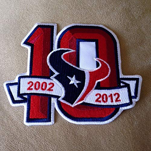 - newHOUSTON Texans 2002-2012 10 Seasons 10th Anniversary NFL Iron-on Jersey Patch!