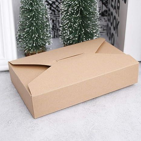 10 Piezas de cartón de Navidad Cajas de Regalo Bolsas Vaquero de Dibujos Animados Cookie Box Simple Paquete de Sobres de Embalaje Cookbook (Color : Brown): Amazon.es: Electrónica
