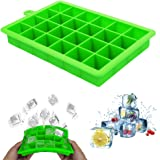 MJIYA Ice Cube Trays, BPA Free & Food Grade Silicone Ice Cube Molds with Removable Lid, Easy-Release Flexible Ice Cube Molds