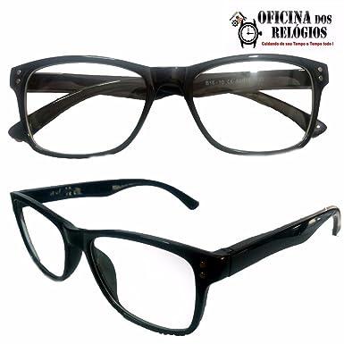 88e7c3268 Armação Para Óculos Leitura e Descanso com lentes Sem Grau Preto - Frete  Grátis