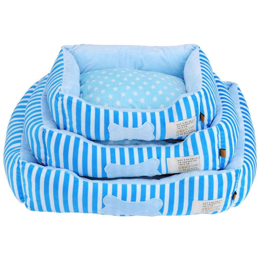 A Daeou Pet mat Removable and Washable Kennel Three Sets of Warm and Cold Cushion