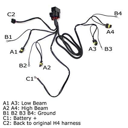 Amazon Com Ijdmtoy Headlight Highlow Conversion Relay Wire Harness