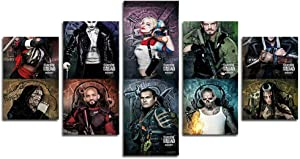 AtfArt 5 Piece Suicide Squad Canvas Painting for Living Room Home Decor Canvas Art Wall Poster (No Frame) Unframed Mr-07