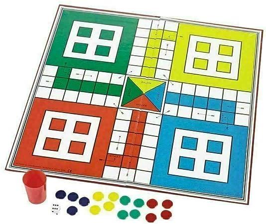 RK SUN Juego de Mesa Ludo & Snakes Ladders Jugar con niños y Familia - Paquete de 1: Amazon.es: Juguetes y juegos