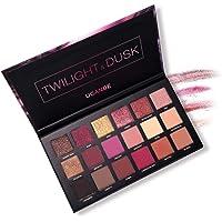 Hennta 18 colores paleta de sombras profesionales cara mate + Glitter maquillaje paleta de sombra de ojos, reflejo de sombra ahumada Crepúsculo & Crepúsculo maquillaje paleta de cosméticos (#02)