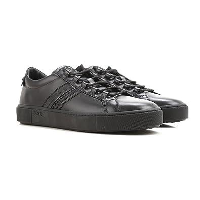 Tod s Sneaker in Pelle liscia XXM56A0V2607WRB999 Nero Uomo 11 ... 49e39893a5d