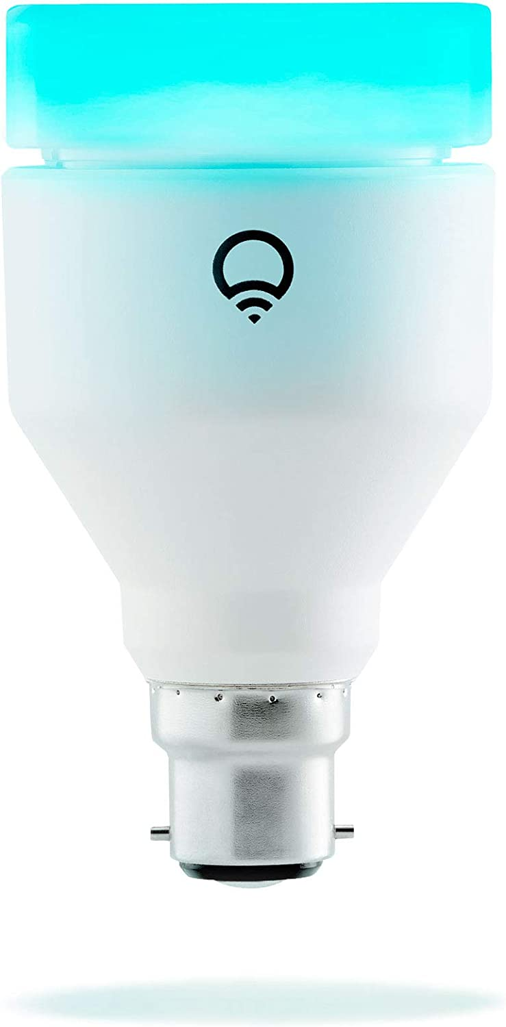 LIFX (B22) Ampoule smart LED connectable Wi-Fi, ajustable, multicouleur, variable, pas de...
