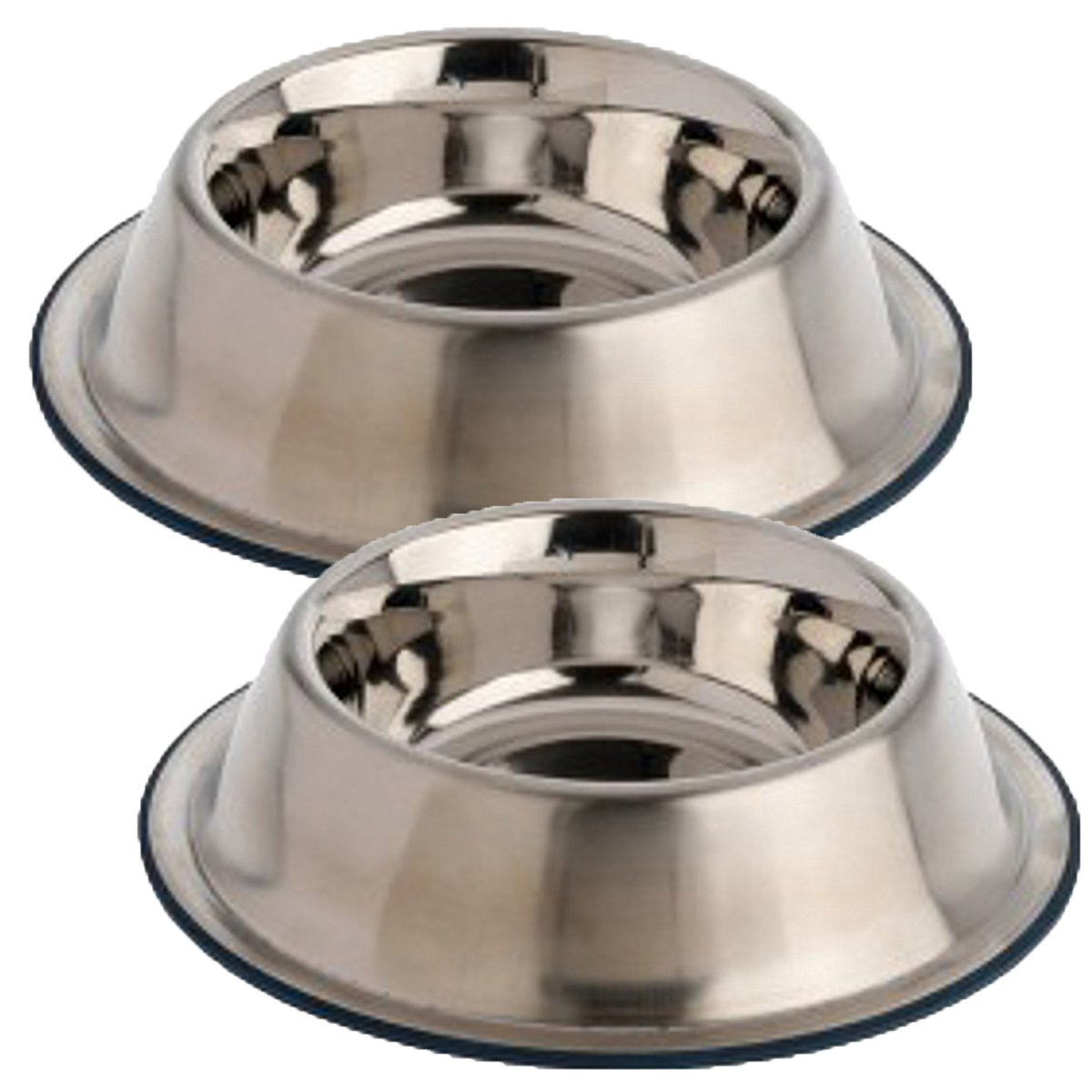 OurPets DuraPet Premium No-Tip Stainless Steel Pet Bowls, Medium (2 Pack)