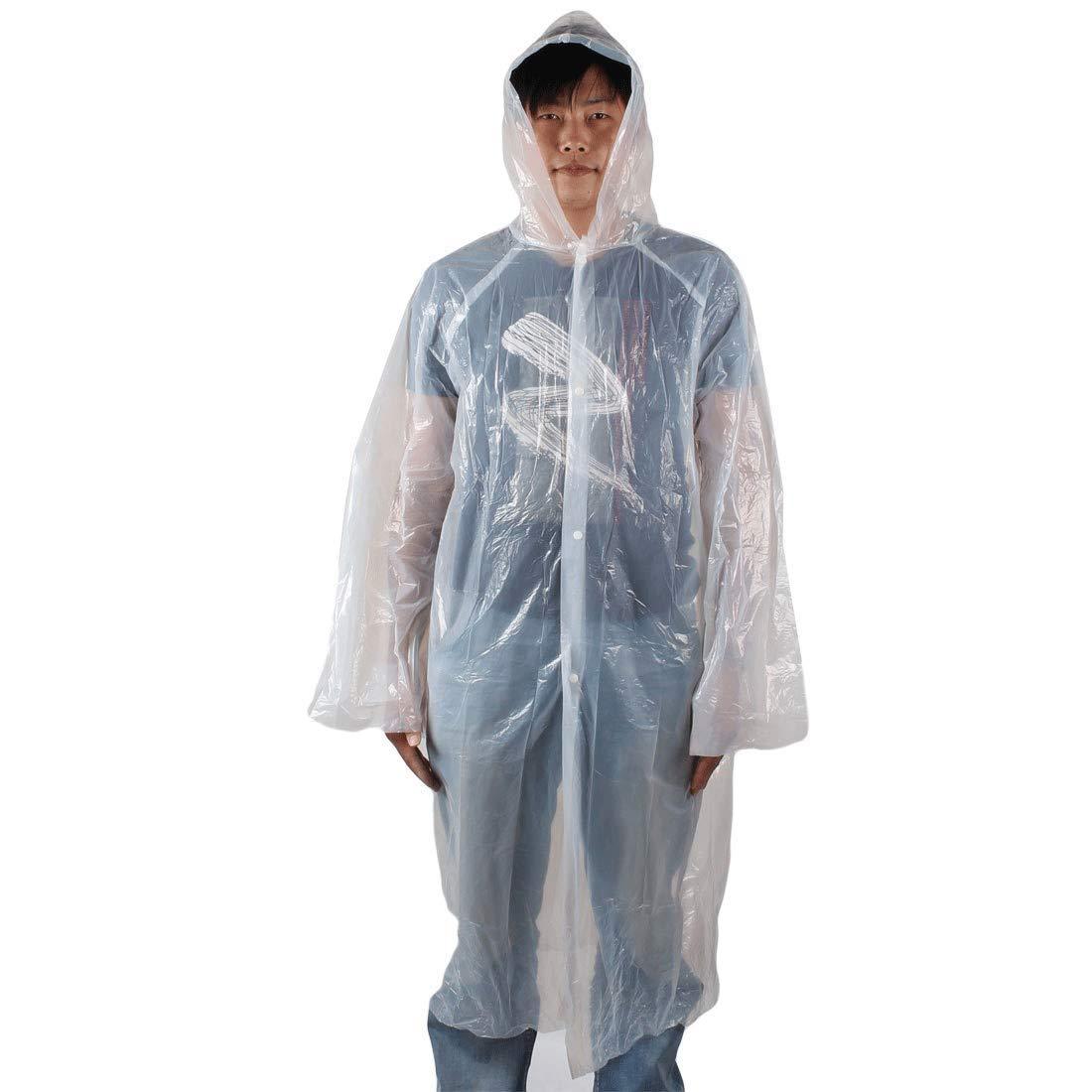 festpak Outdoor Travel Raincoat/Plastic Disposable Rain Poncho/Rainproof Cover