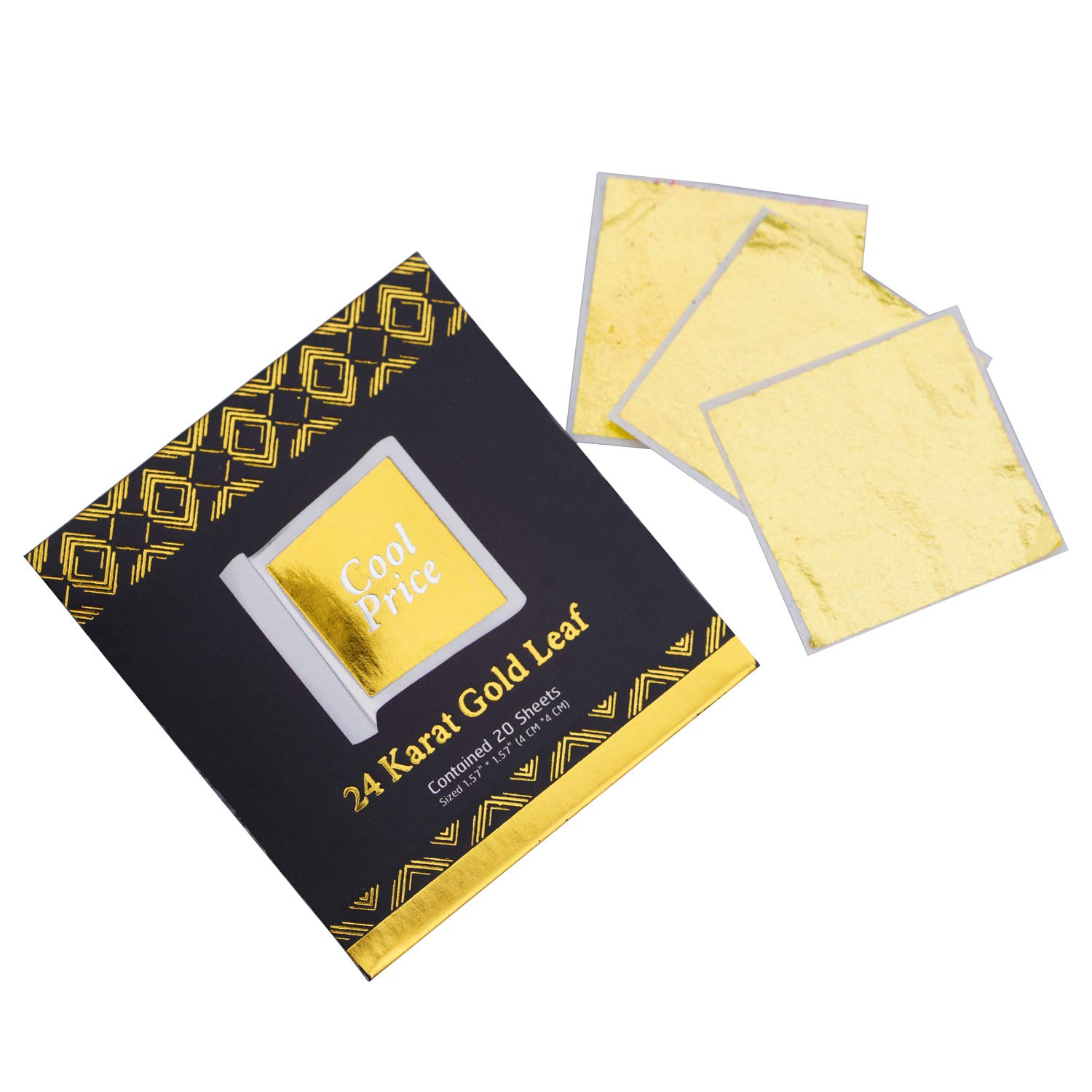 Cool Price Gold Leaf 20 Sheets Per Pack (1Pack)