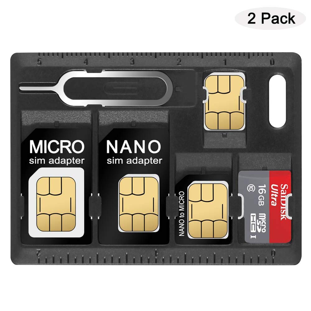 Nano SIM Card Micro SIM Card Microsd Memory SD Card Micro sd Card Adapter Holder with A Tray Eject Opener Pins YFLife SIM Card Adapter Holder
