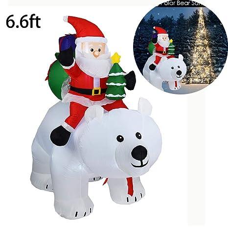 cheerfulus 6.6 pies Inflable Montar Oso Polar Santa Claus ...