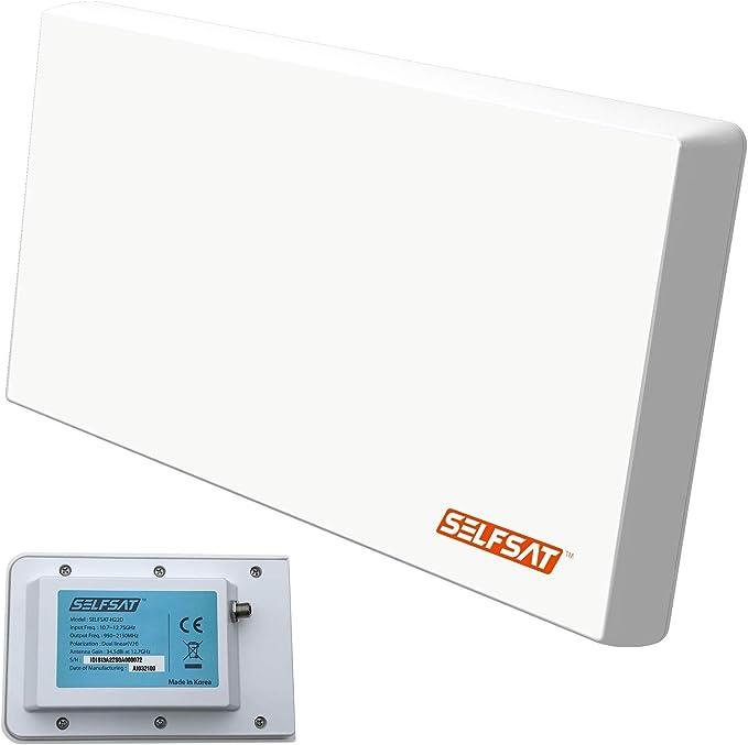 Selfsat h22d + UHD 4 K Single con Soporte Multifunción