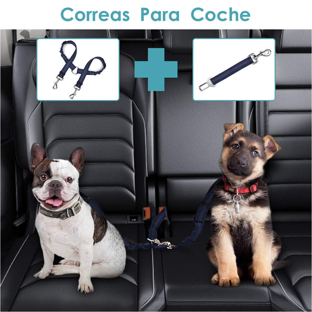 Cintura di Sicurezza Doppia per Auto Cintura a Doppio accoppiatore SlowTon Cintura di Sicurezza a Doppio Cane