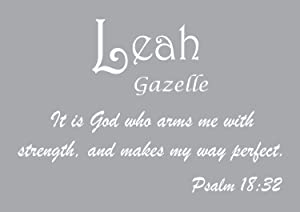 Baby Names Wall Decals for Leah. Displays The Meaning of Names - Learn The Leah Name Meanings of Baby Girl Names or Boys. Get This What Does My Name Mean Decal in - White