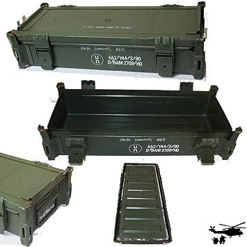 US MUNITIONSKISTE Metall Kiste Army Transportbox Metallbox Cal.50mm large PA 60