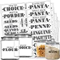 Talented Kitchen Farmhouse Pantry Labels 110 Healthy Ingredients Food Pantry Label Sticker Water Resistant Food Jar Labels Jar Decals Pantry Organization Storage Set Of 110 Non Main Pantry