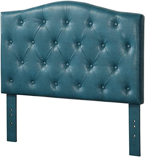 ACME Furniture 39127Q Viola Headboard Only Only, Queen, Blue PU