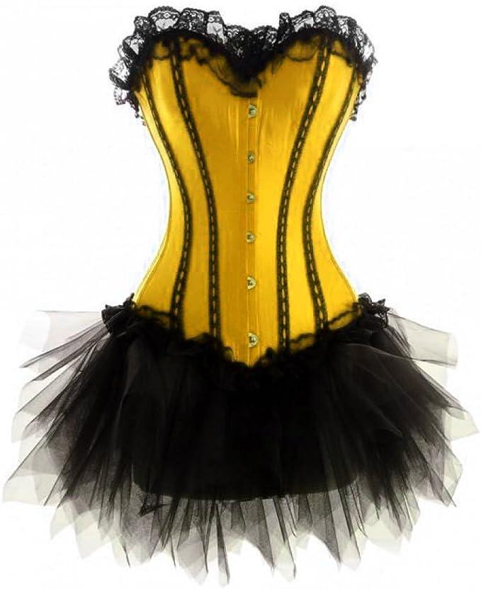 Black Mesh Gothic Steampunk Costume Waist Shaper Overbust Sheer Plus Size Corset