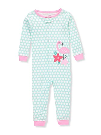 f383db9eb Amazon.com  Carter s Baby Girls  1-Piece Snug Fit Cotton Footless ...