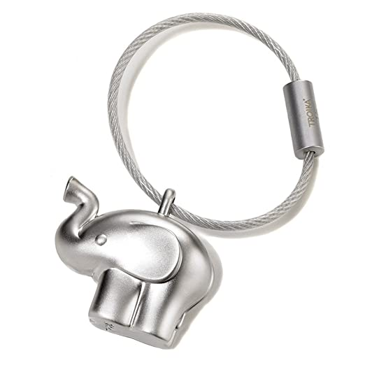 3 opinioni per TROIKA KR14-01 little elephant Portachiavi a forma di elefantino, in metallo