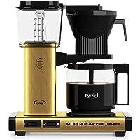 Moccamaster D - KBG 741 Select - Brushed Brass Kaffemaskin, 1.25L, Guld, Svart